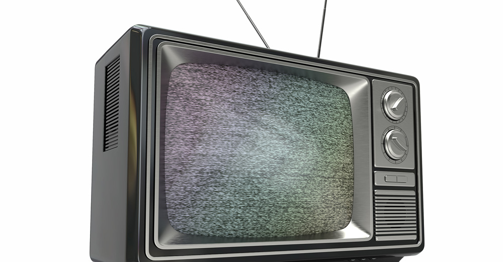 television with static showing